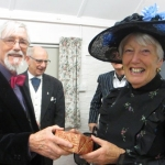 Jane being presented with her Edwardian costume prize - cropped