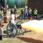 cannon firing at Shoreham Fort, West Sussex