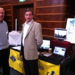 Jim Anderson and Richard Stockwell on the SDFM stand at Worthing Hobbies and Clubs exhibition.
