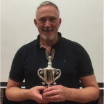 Alan Cross with the Ferring Cup trophy